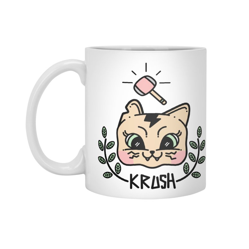 Kitty krush Accessories Standard Mug by Cristóbal Urrea