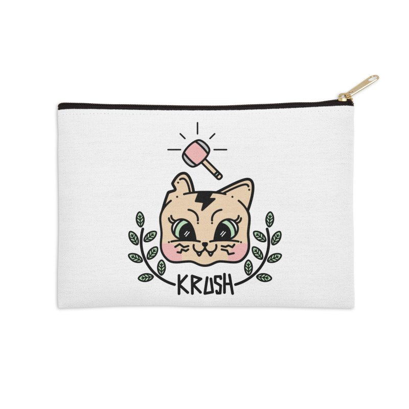 Kitty krush Accessories Zip Pouch by Cristóbal Urrea