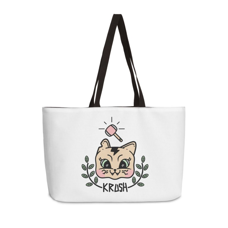 Kitty krush Accessories Weekender Bag Bag by Cristóbal Urrea