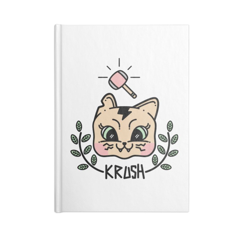 Kitty krush Accessories Lined Journal Notebook by Cristóbal Urrea