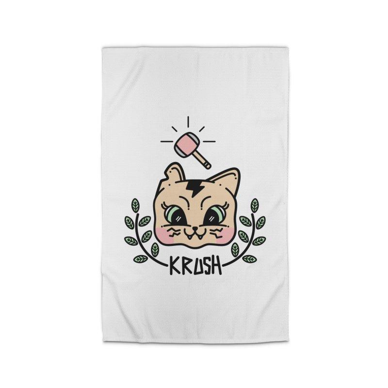 Kitty krush Home Rug by Cristóbal Urrea