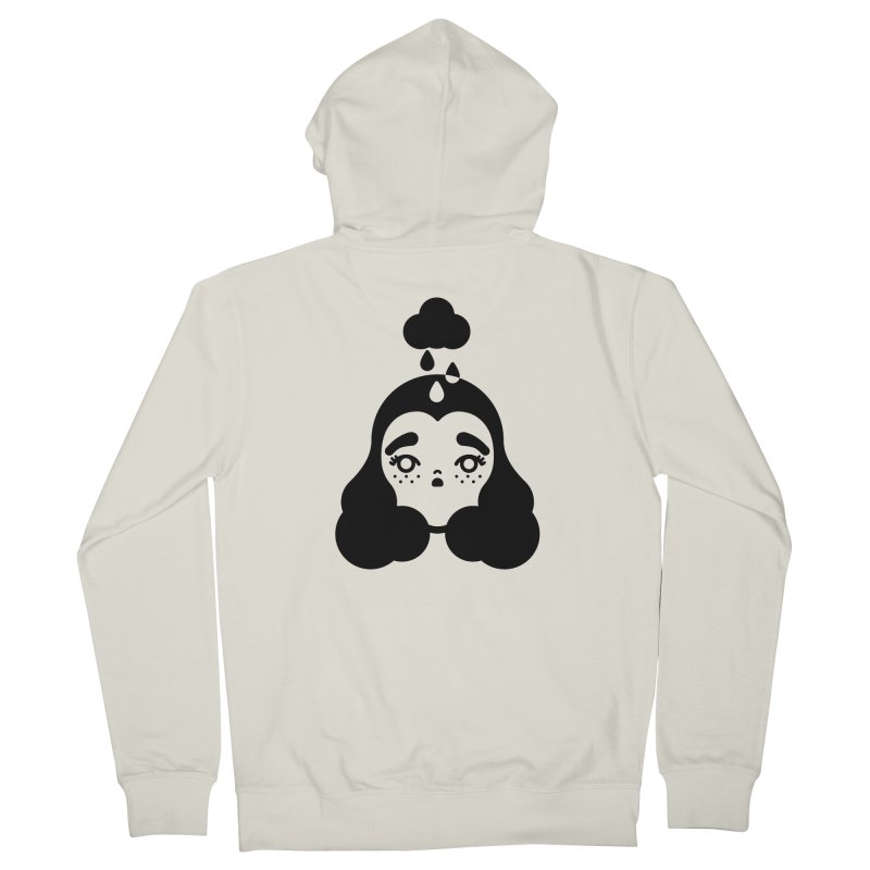 frizz girl Men's Zip-Up Hoody by 3lw's Artist Shop