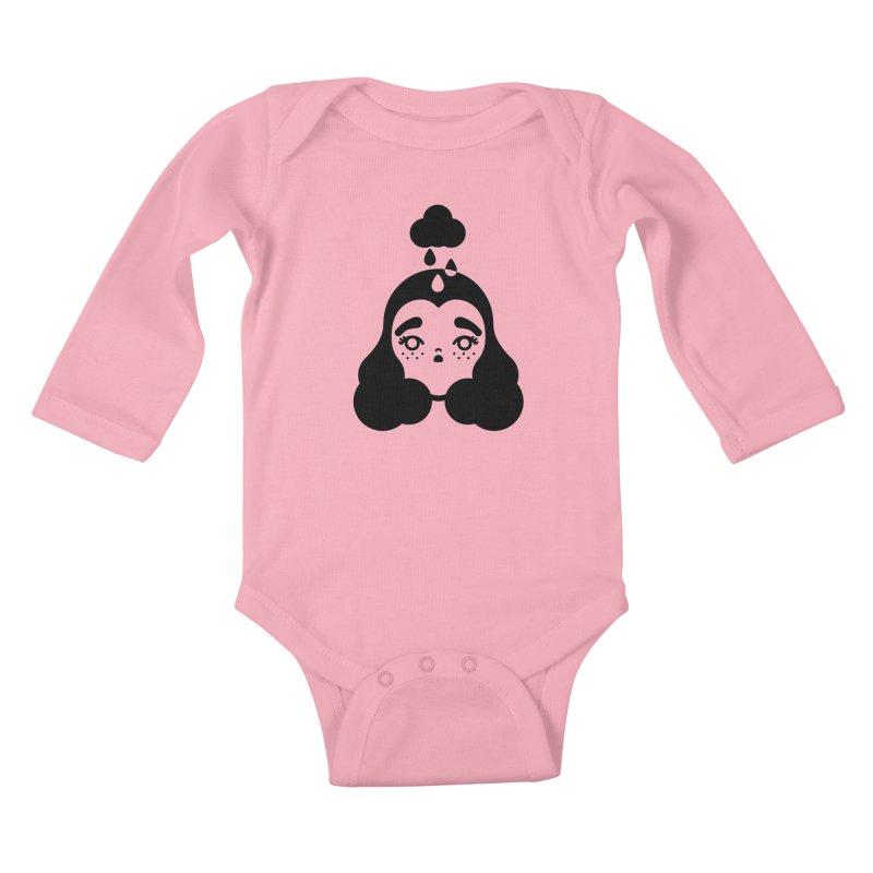 frizz girl Kids Baby Longsleeve Bodysuit by Cristóbal Urrea