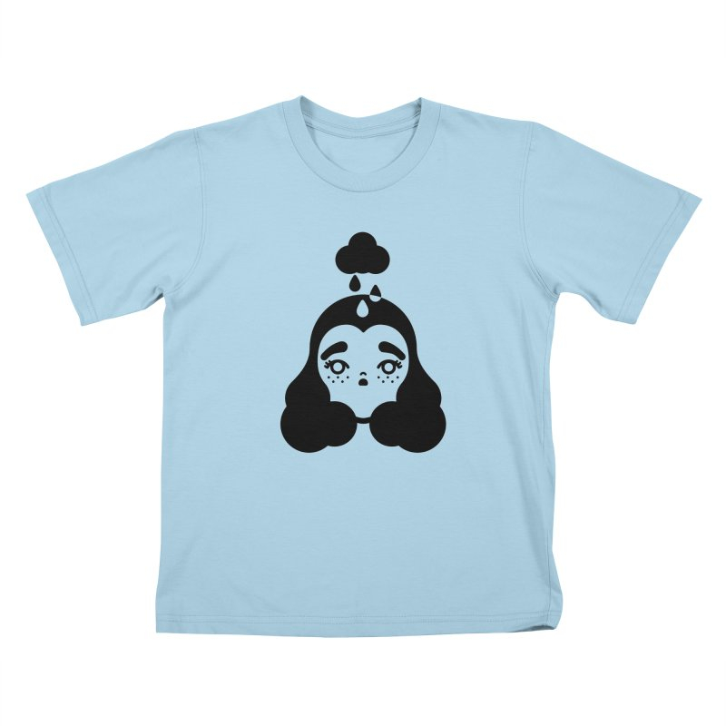 frizz girl Kids T-Shirt by Cristóbal Urrea