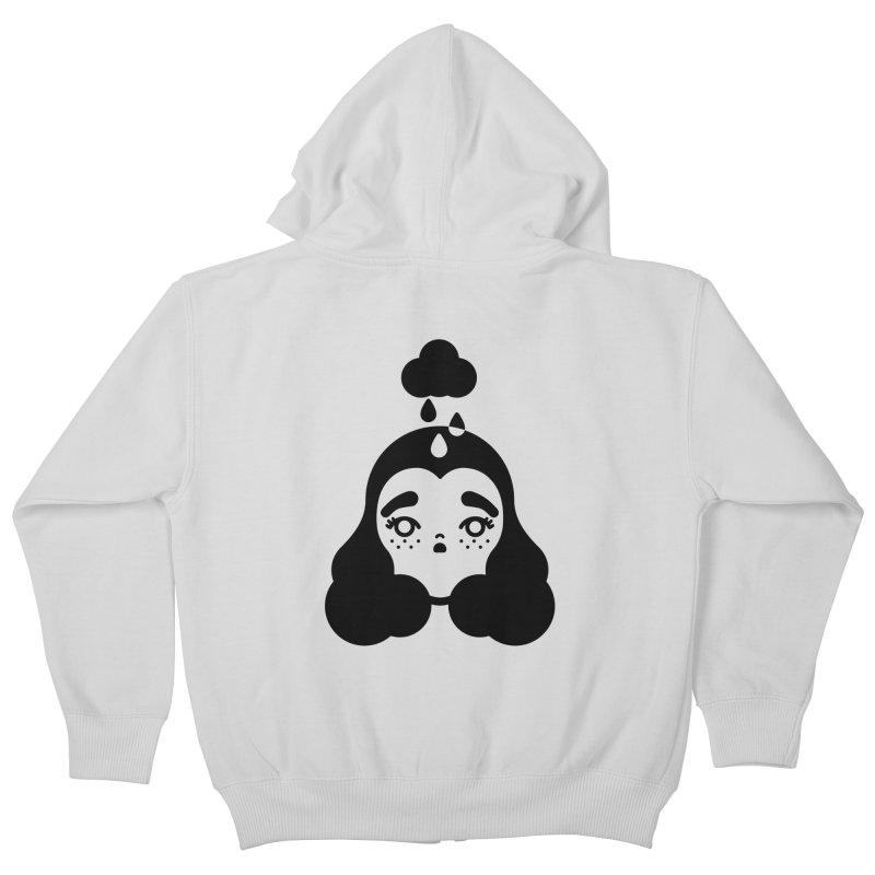 frizz girl Kids Zip-Up Hoody by 3lw's Artist Shop