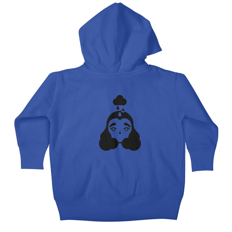 frizz girl Kids Baby Zip-Up Hoody by 3lw's Artist Shop