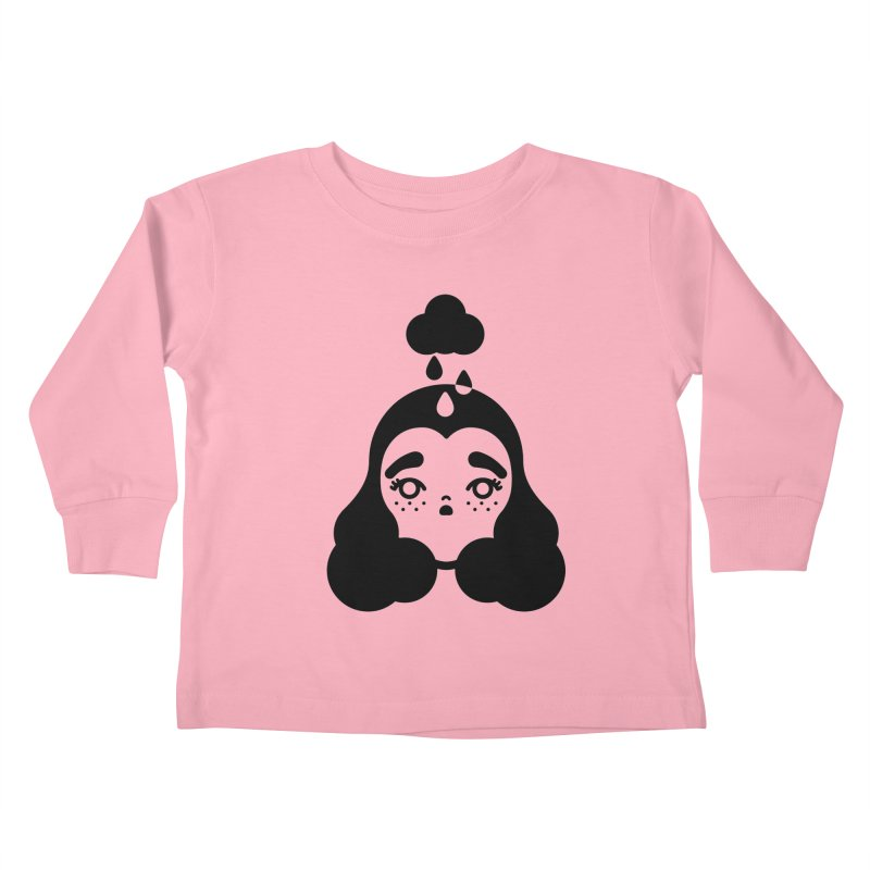 frizz girl Kids Toddler Longsleeve T-Shirt by Cristóbal Urrea