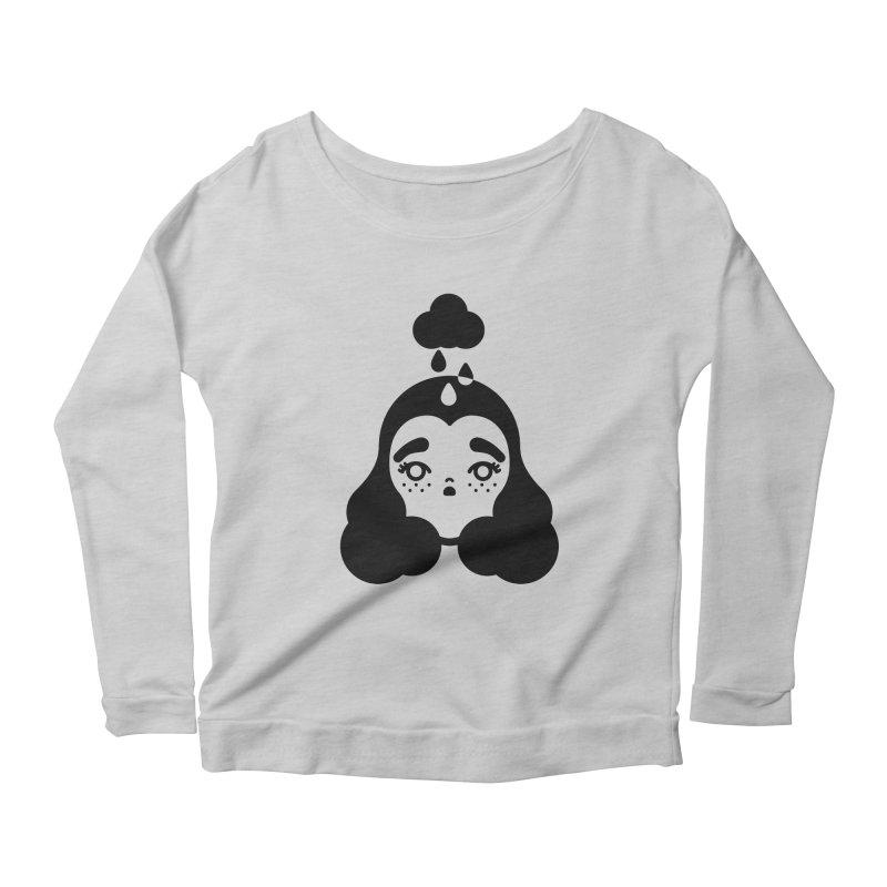 frizz girl Women's Scoop Neck Longsleeve T-Shirt by Cristóbal Urrea