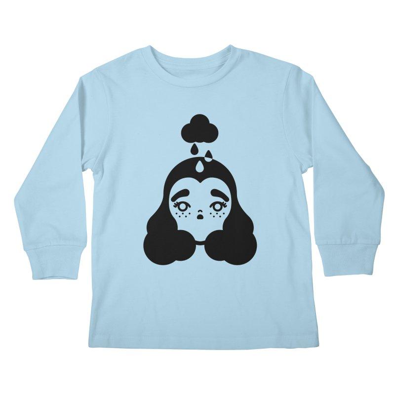 frizz girl Kids Longsleeve T-Shirt by Cristóbal Urrea