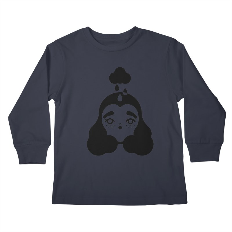 frizz girl Kids Longsleeve T-Shirt by 3lw's Artist Shop