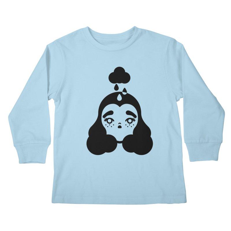 frizz girl Kids Longsleeve T-Shirt by 3lw's Artist Shop