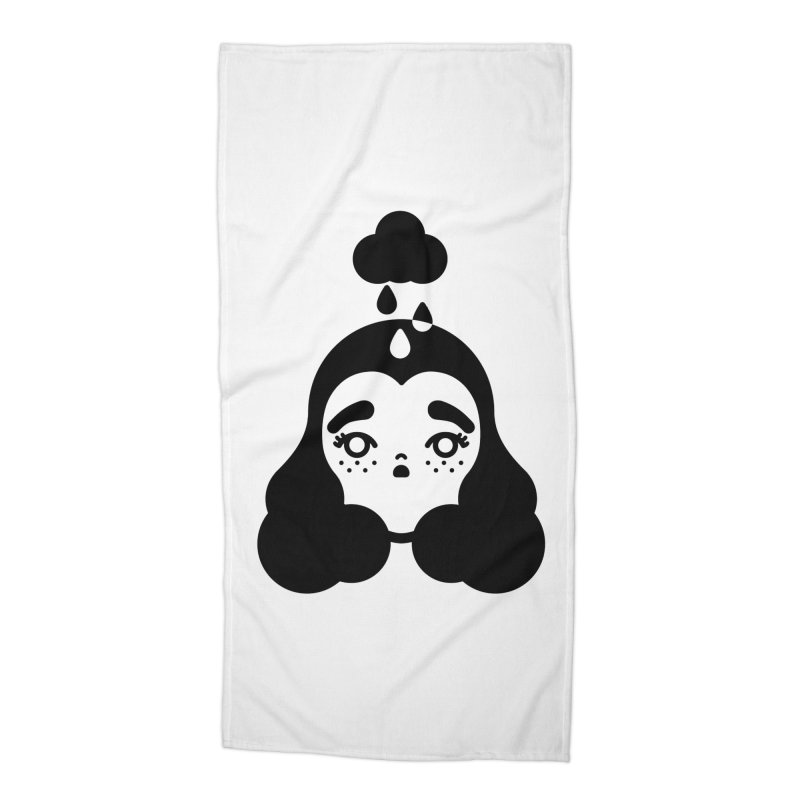 frizz girl Accessories Beach Towel by Cristóbal Urrea