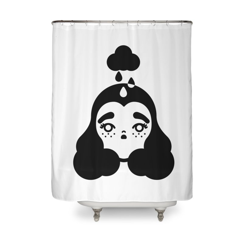 frizz girl Home Shower Curtain by Cristóbal Urrea