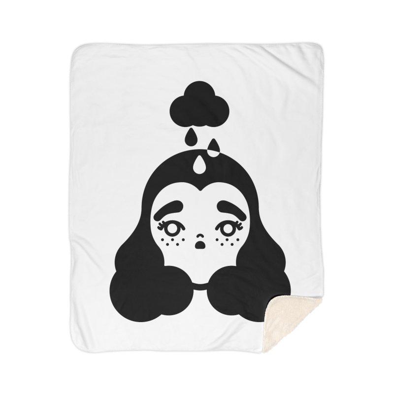 frizz girl Home Sherpa Blanket Blanket by Cristóbal Urrea