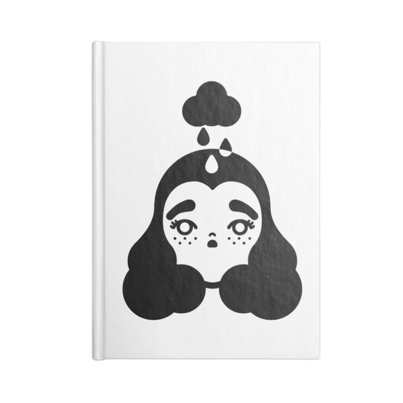 frizz girl Accessories Lined Journal Notebook by Cristóbal Urrea