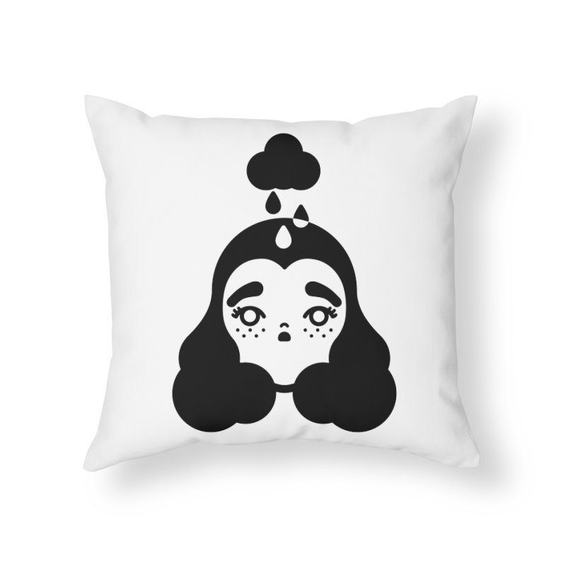 frizz girl Home Throw Pillow by Cristóbal Urrea