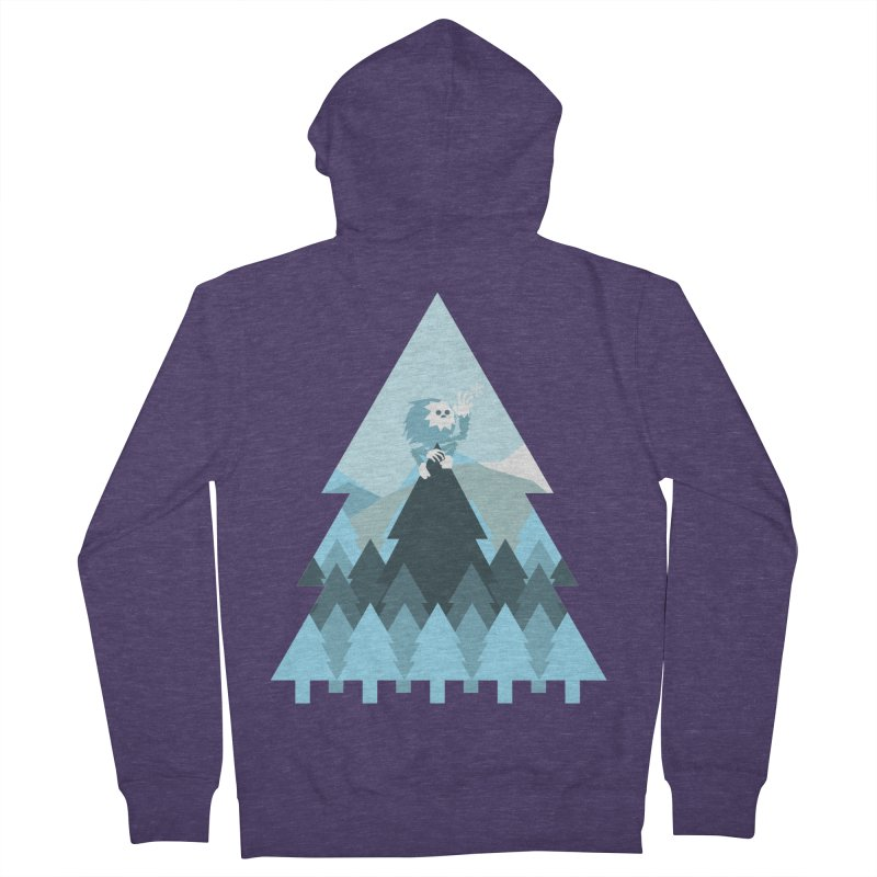 First day of winter Men's French Terry Zip-Up Hoody by 3lw's Artist Shop