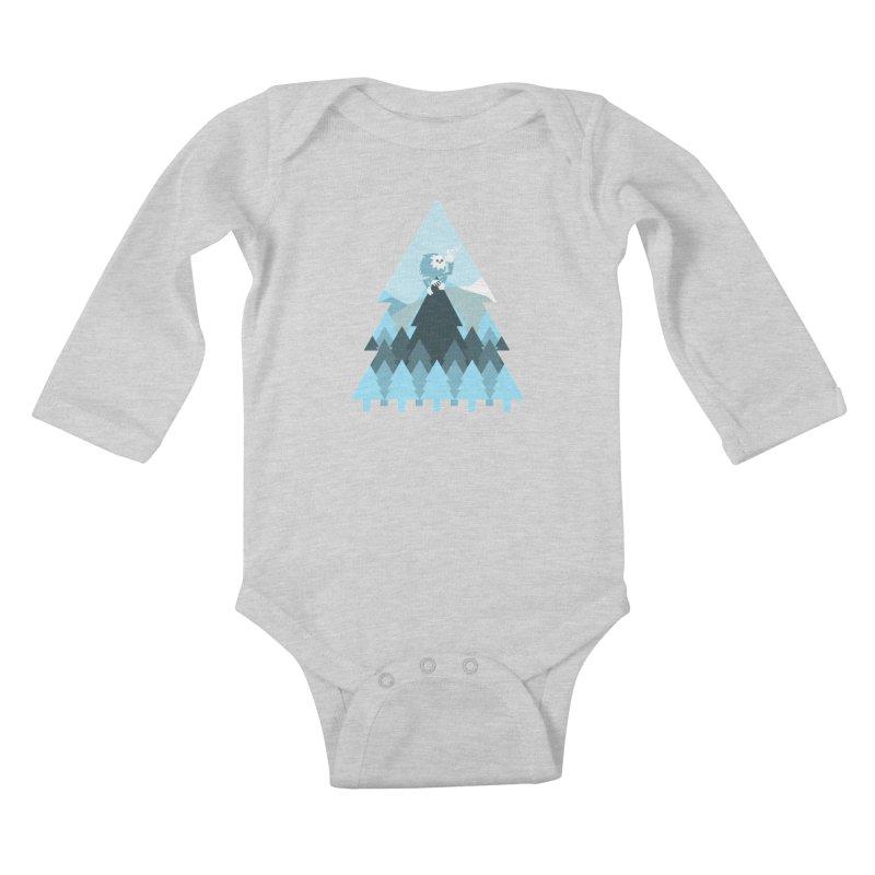 First day of winter Kids Baby Longsleeve Bodysuit by 3lw's Artist Shop
