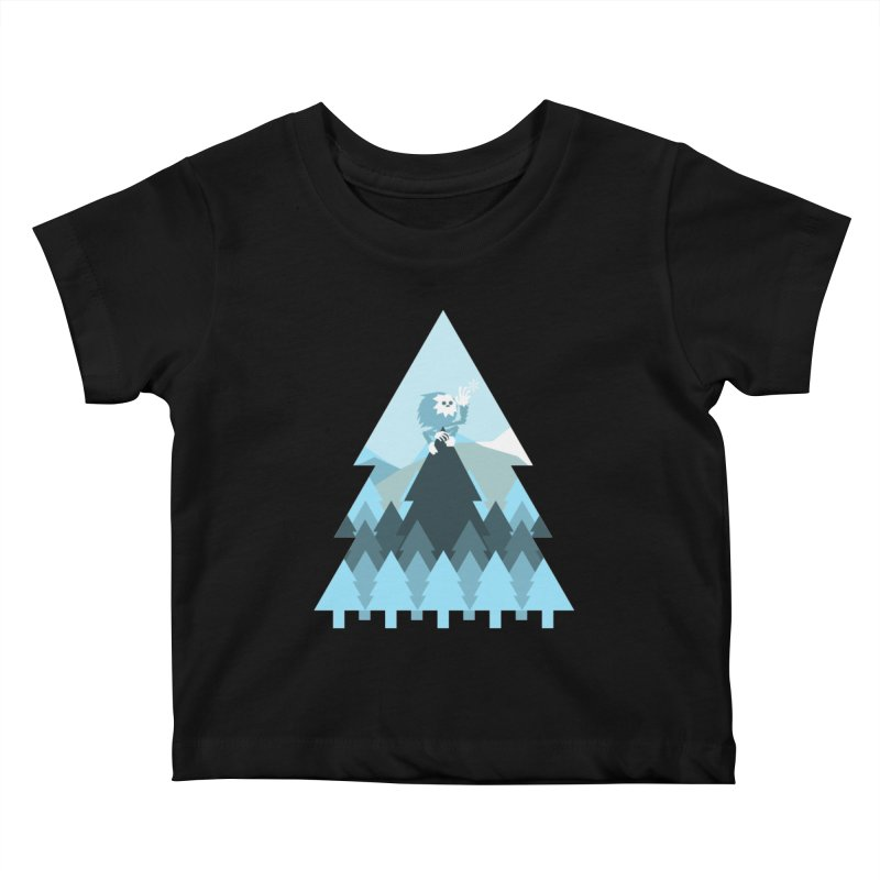 First day of winter Kids Baby T-Shirt by Cristóbal Urrea