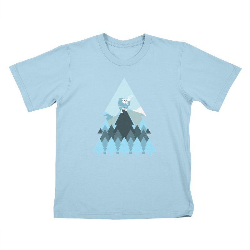 First day of winter Kids T-Shirt by Cristóbal Urrea