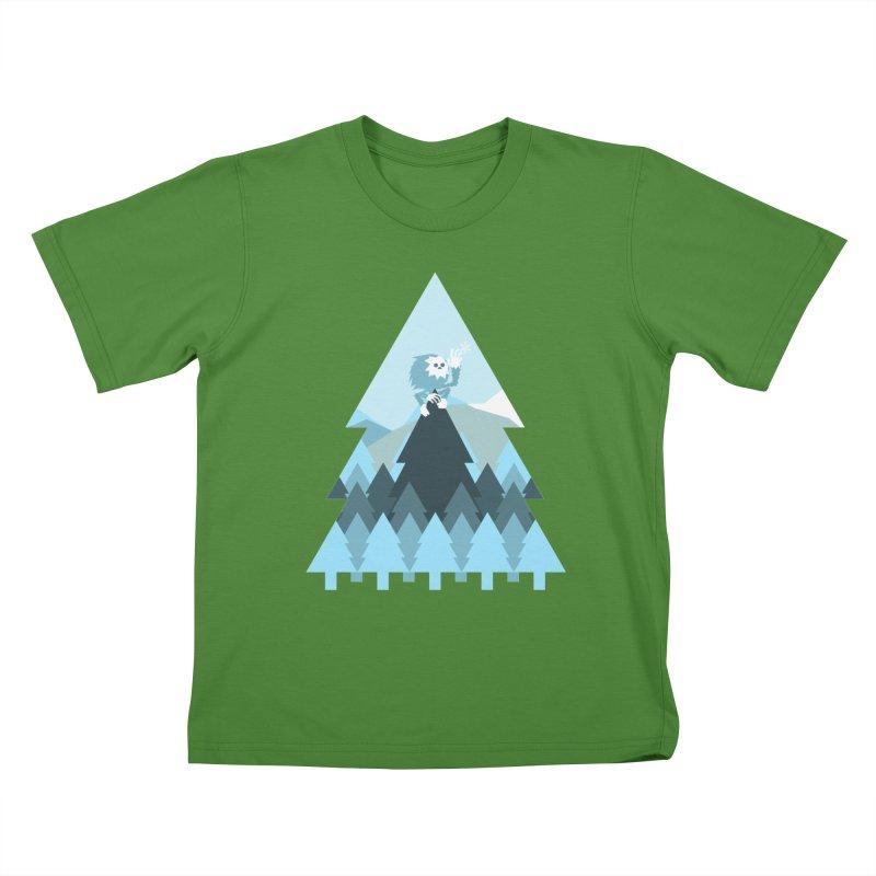 First day of winter Kids T-Shirt by 3lw's Artist Shop