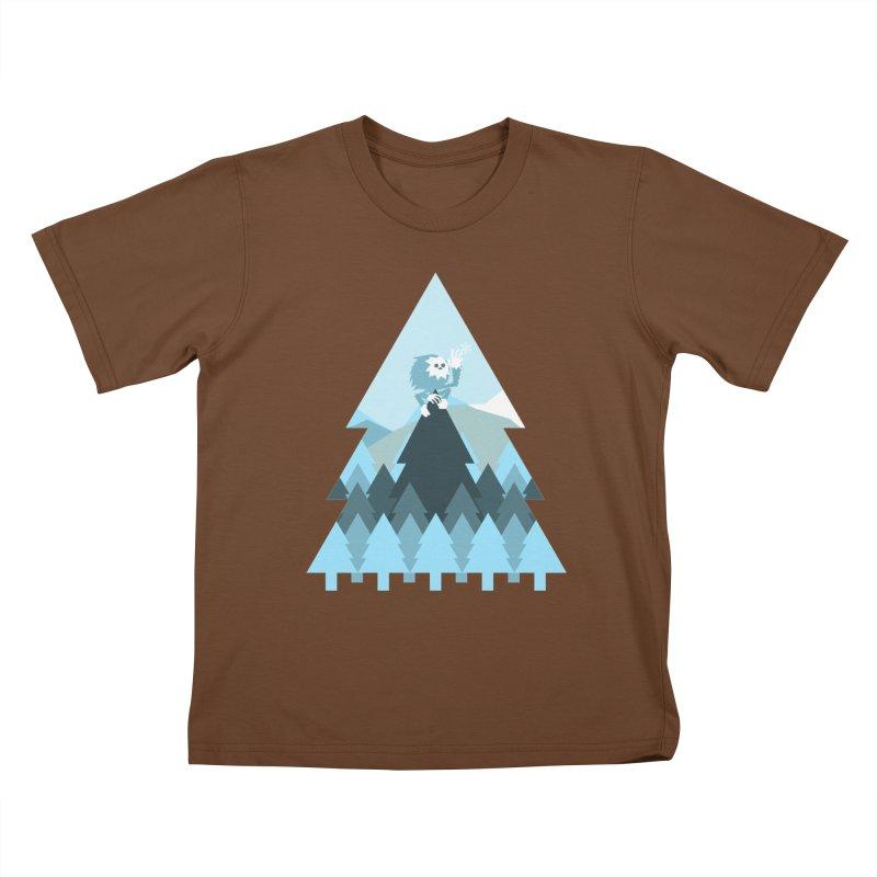 First day of winter Kids T-Shirt by Cristóbal Urrea