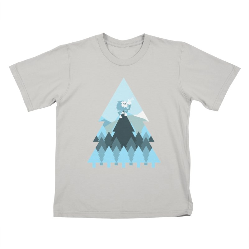 First day of winter Kids T-shirt by 3lw's Artist Shop
