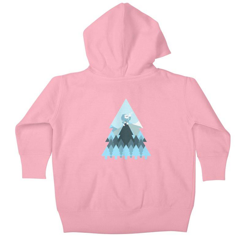 First day of winter Kids Baby Zip-Up Hoody by 3lw's Artist Shop