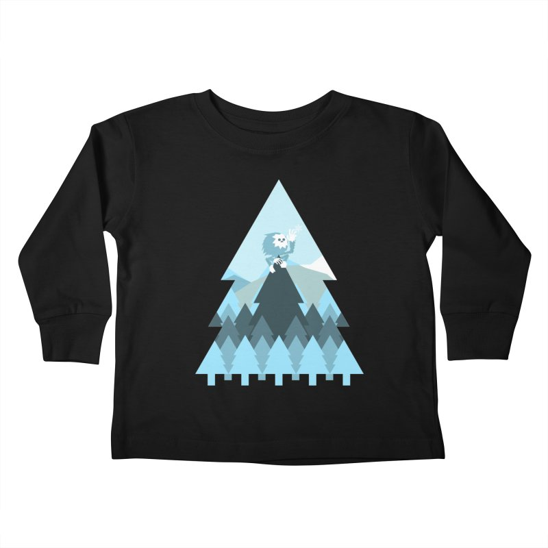 First day of winter Kids Toddler Longsleeve T-Shirt by Cristóbal Urrea