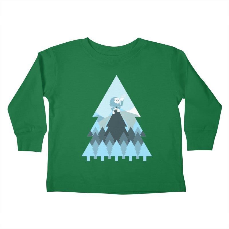 First day of winter Kids Toddler Longsleeve T-Shirt by Cristóbal Urrea
