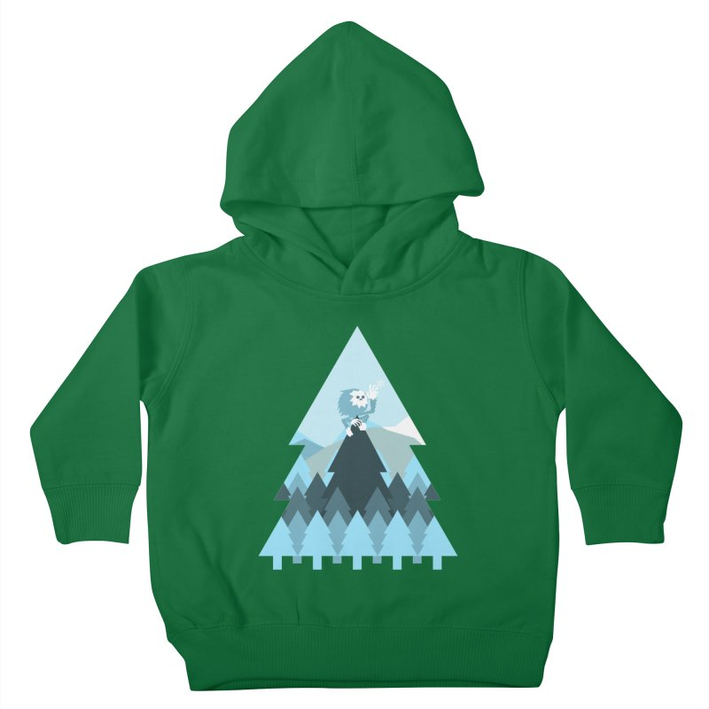 First day of winter Kids Toddler Pullover Hoody by Cristóbal Urrea