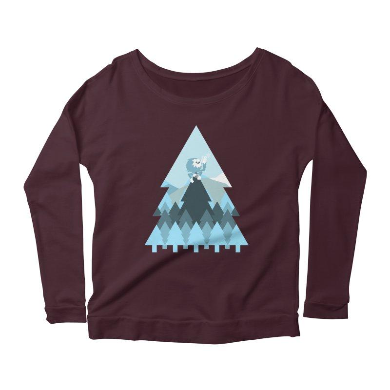 First day of winter Women's Scoop Neck Longsleeve T-Shirt by 3lw's Artist Shop