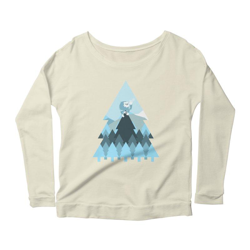 First day of winter Women's Scoop Neck Longsleeve T-Shirt by Cristóbal Urrea
