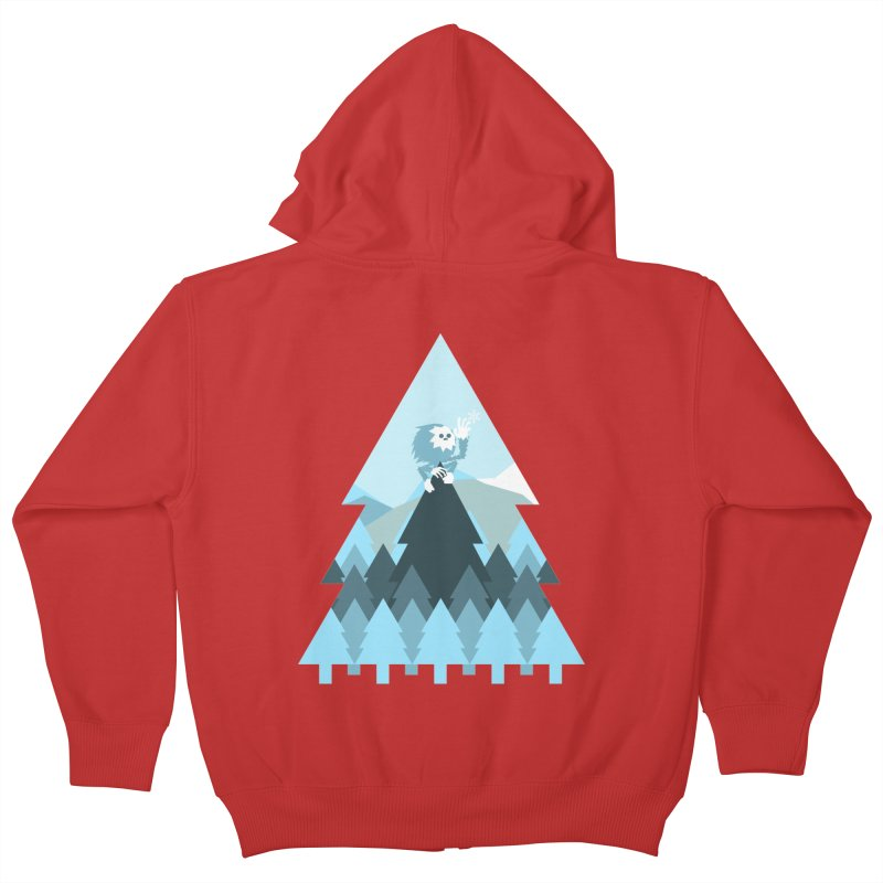 First day of winter Kids Zip-Up Hoody by 3lw's Artist Shop
