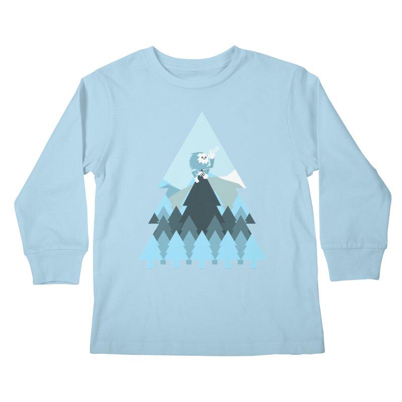 First day of winter Kids Longsleeve T-Shirt by Cristóbal Urrea