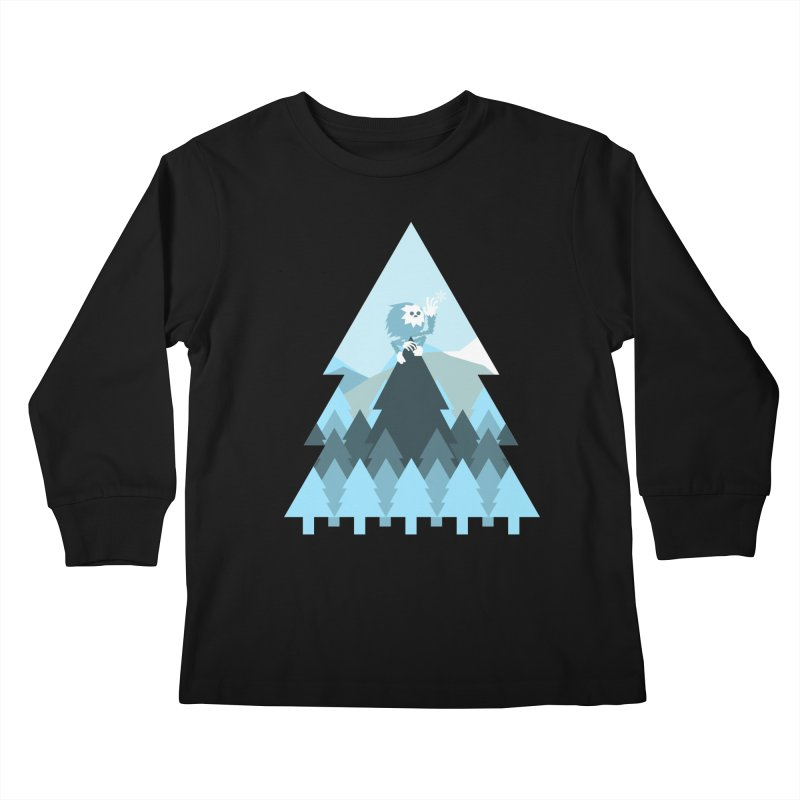 First day of winter Kids Longsleeve T-Shirt by 3lw's Artist Shop