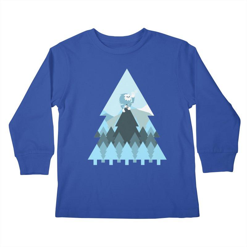 First day of winter Kids Longsleeve T-Shirt by 3lw's Artist Shop