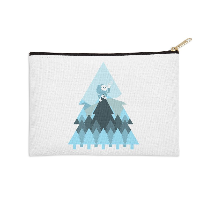 First day of winter Accessories Zip Pouch by 3lw's Artist Shop