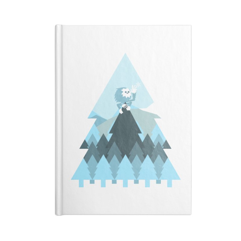 First day of winter Accessories Lined Journal Notebook by Cristóbal Urrea