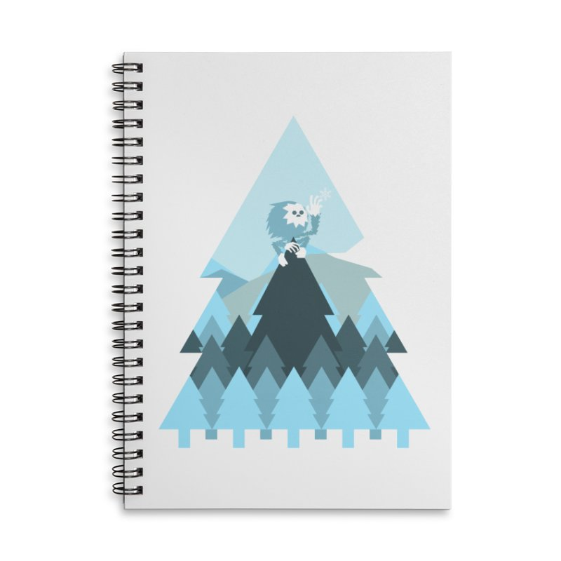 First day of winter Accessories Lined Spiral Notebook by Cristóbal Urrea