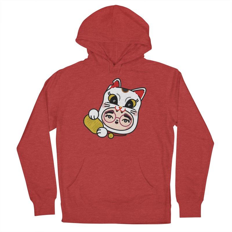 Lucky cat Men's Pullover Hoody by 3lw's Artist Shop