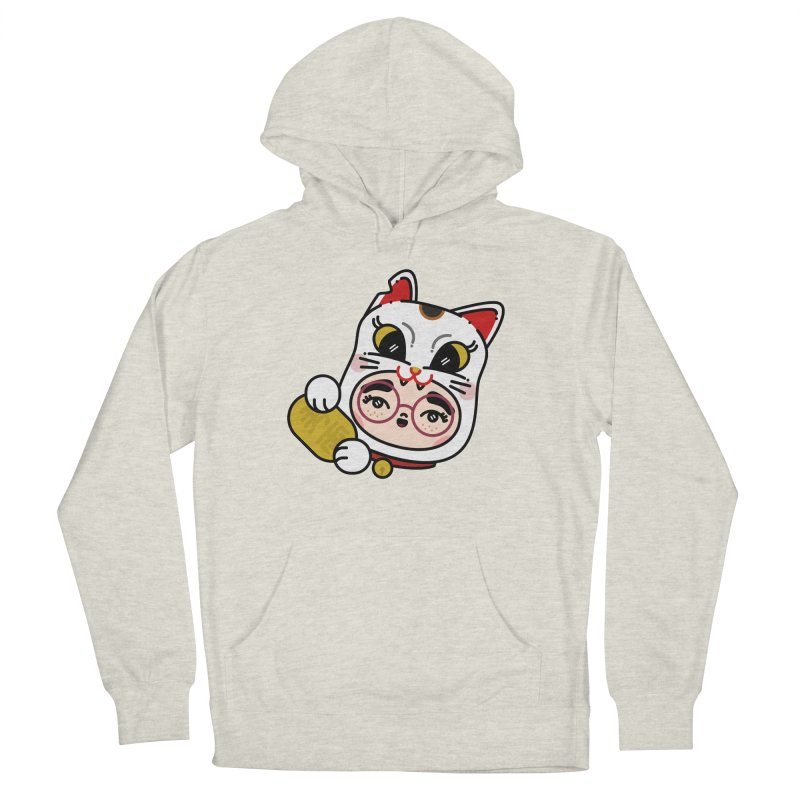 Lucky cat Men's French Terry Pullover Hoody by 3lw's Artist Shop