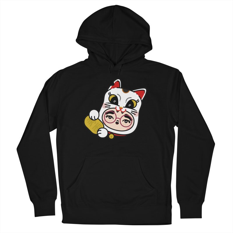 Lucky cat Men's Pullover Hoody by 3lw's Artist Shop