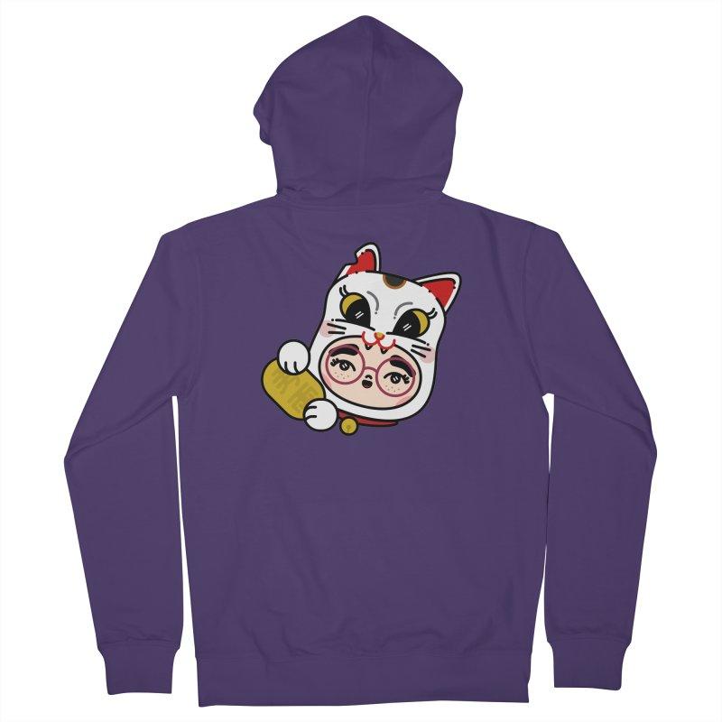 Lucky cat Women's Zip-Up Hoody by 3lw's Artist Shop