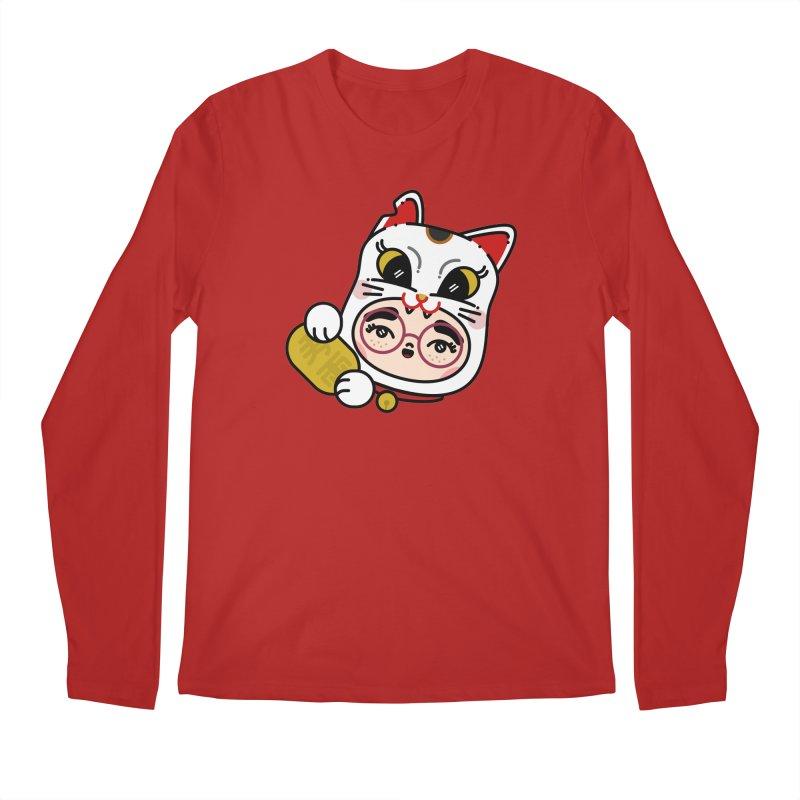 Lucky cat Men's Longsleeve T-Shirt by 3lw's Artist Shop