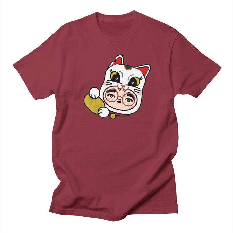 Lucky cat Women's Regular Unisex T-Shirt by 3lw's Artist Shop