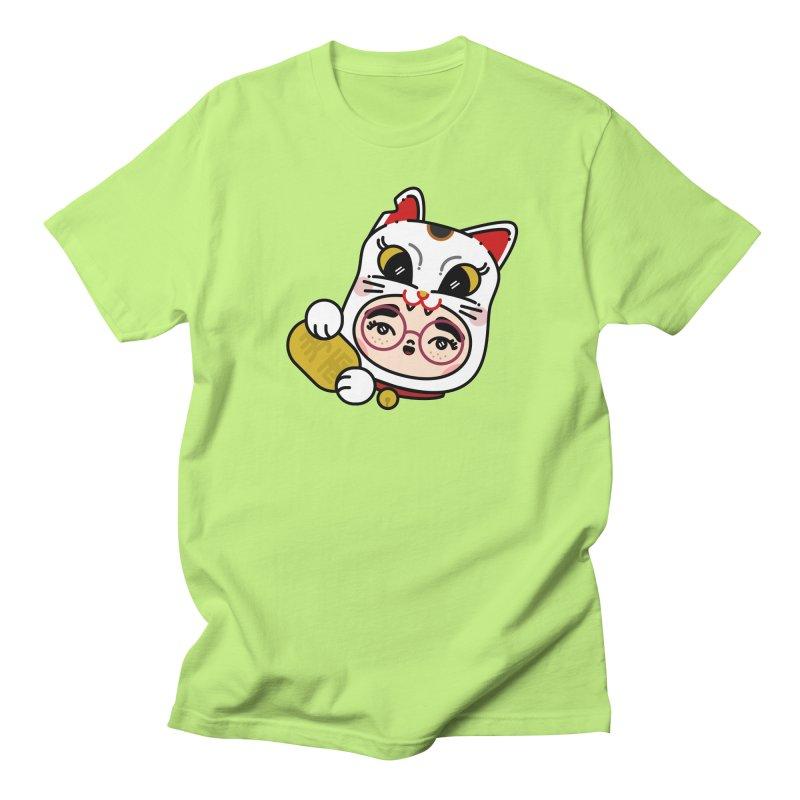 Lucky cat Women's Unisex T-Shirt by 3lw's Artist Shop