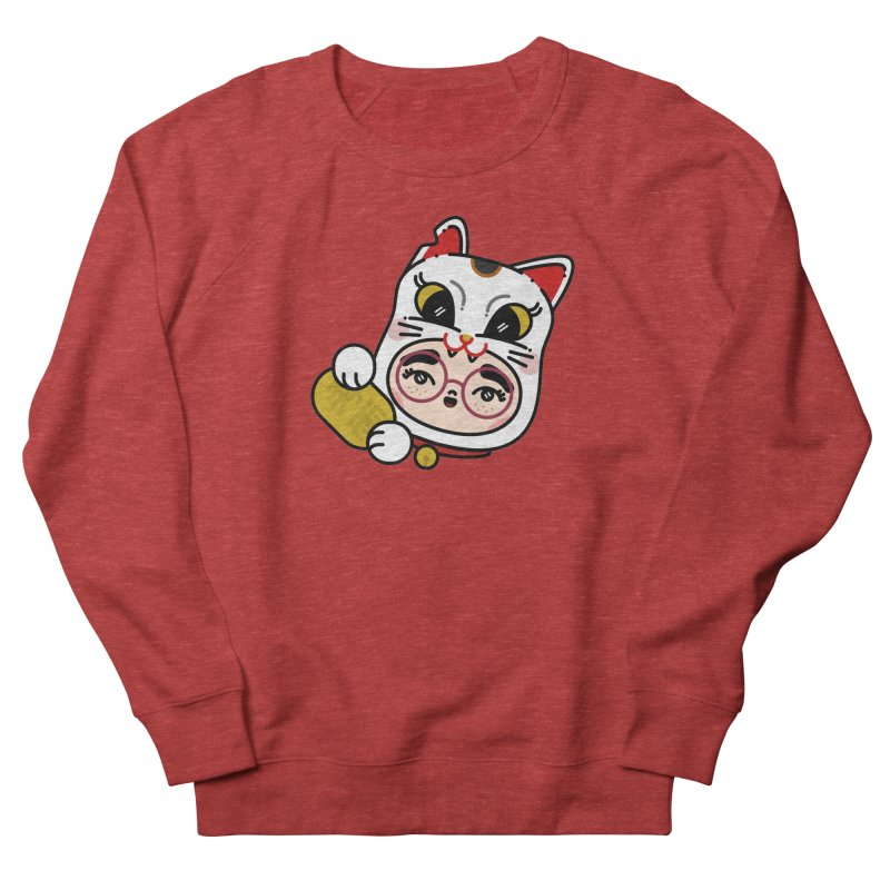 Lucky cat Men's French Terry Sweatshirt by Cristóbal Urrea