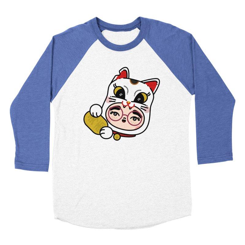 Lucky cat Women's Baseball Triblend T-Shirt by 3lw's Artist Shop
