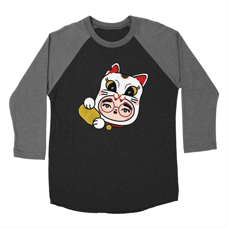 Lucky cat Men's Baseball Triblend T-Shirt by 3lw's Artist Shop
